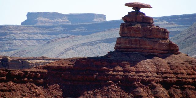 Mexican Hat Rock Formation