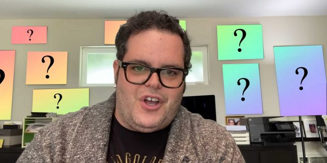 "What's On Josh Gad's Wall On ""Reunited Apart"""